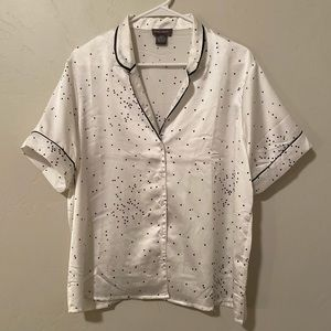 Spotted Pj-Style Blouse
